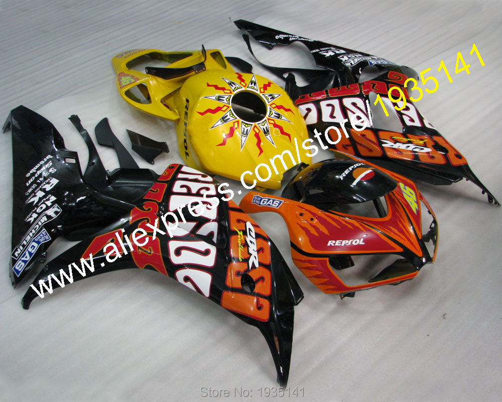 Hot Sales,GAS Repsol 46 kit For Honda 2006 2007 CBR1000RR 06 07 1000 RR CBR decals body motorcycle fairing (Injection molding)