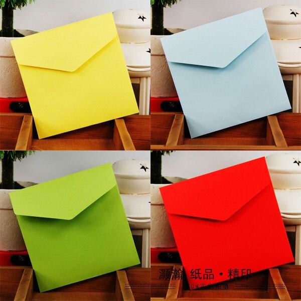 Color Paper Envelope 10x10 Cm Square Envelope Customization Color Envelope 100 Pcs