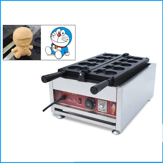 Japanese Cartoon Shape Waffle Machine 220V 110V Commercial Non-stick Waffle Furnace Maker Machine EU/AU/UK/US Plug