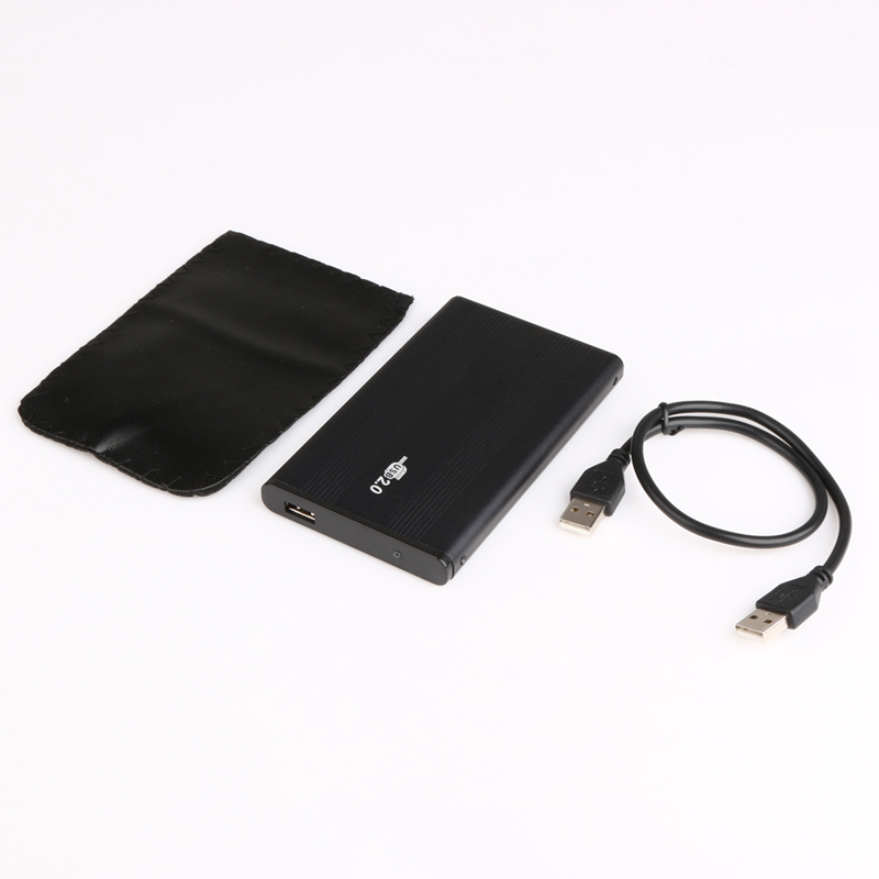 USB 2.0 Hard Drive Disk Enclosure External Box Case Caddy for 2.5
