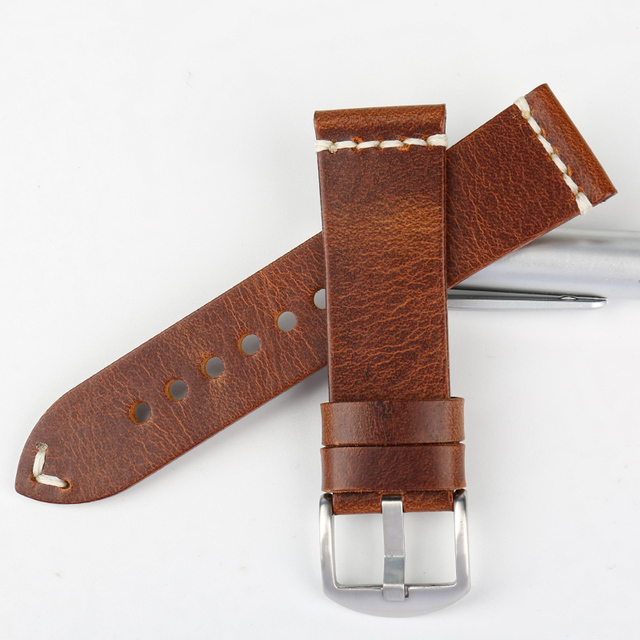 Vintage Pin Buckle Leather Watchbands