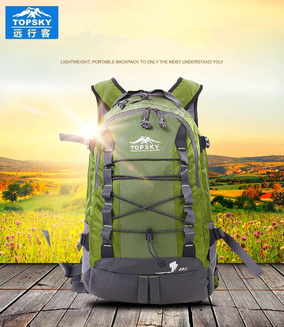 Topsky Outdoor anti-tear backpack waterproof sport bag camping bag travel package Men Female bag sports bags Free Shipping