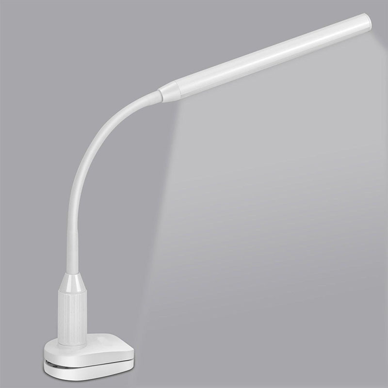 LED Desk lamp Eye Protect Clamp Clip Light Table Lamp Stepless Dimmable Bendable USB Powered Touch Switch Sensor Control