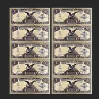 Colección de dinero falso mundial, 10 unidades/lote, Billetes dólares estadounidenses de dólar, billete de hoja dorada, regalos de moneda, envío gratuito, 1899