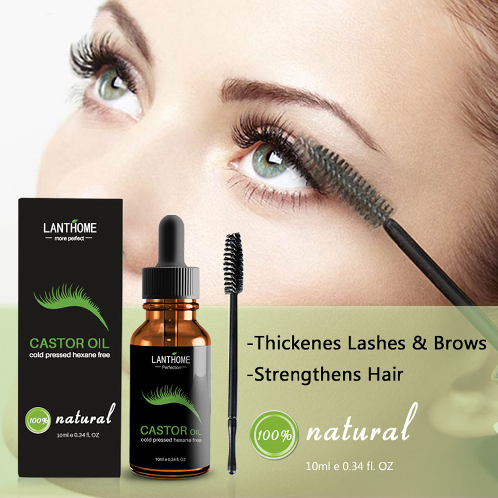 Lanthome 10 ml Effective Eyebrow Eyelash Growth Liquid Castor Seed Oil Mild Maintenance Nourishing Essential Oil TSLM1 image
