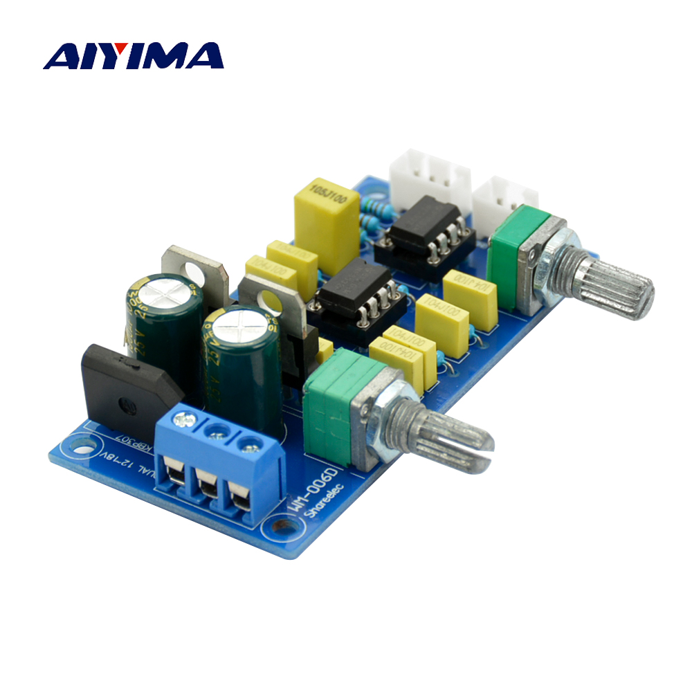Aiyima Low-pass Filter Pre-Amplifier Preamp NE5532*2 Subwoofer Tone Board HI-FI low-pass Circuit Board AC Double 12-18V new kz zs3 in ear headphones stereo headset ear hook running sport earphone noise cancelling earbuds headphones with microphone