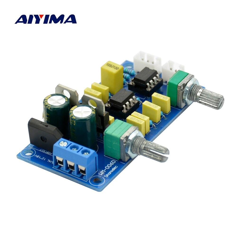 Aiyima passe-Bas Filtre Pré-Amplificateur Préampli NE5532 * 2 Subwoofer Tone Conseil SALUT-FI passe-bas Circuit conseil AC Double 12-18 V