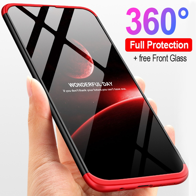 Luxury 360 Full Cover Phone Case For Samsung A50 A30 A40S Shockproof Cover For Samsung Galaxy M30 M20 M10 Case + Gift Glass Film