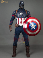 Official trailers Steve Rogers Captain America cosplay costume Avengers : Endgame cosplay costume mp004310