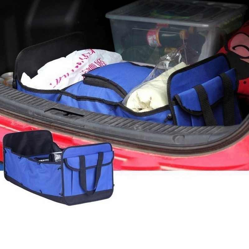 Hoomall 2 типа сетчатый карман багажник автомобиля аккуратная сумка для хранения Органайзер Оксфорд ткань складной грузовик коробка для хранения
