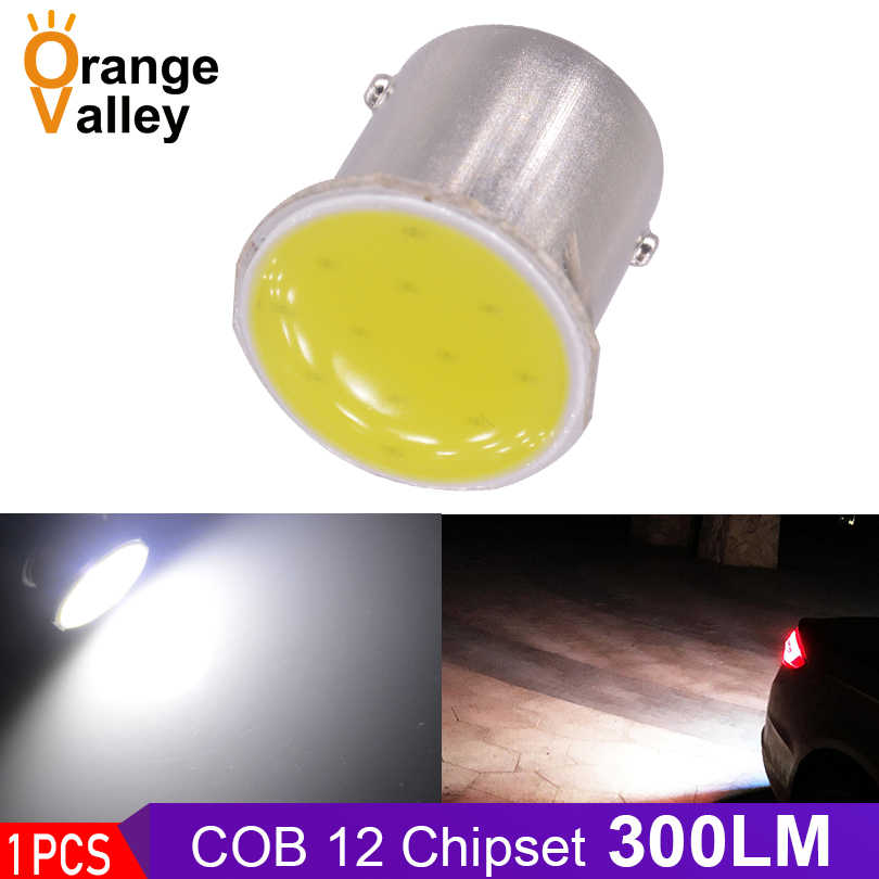 1pcs 1156 Led Lights COB 12 chips BA15S P21W Auto Car Turn Signal Light Reverse Lamps Tail Lamp White Amber Red