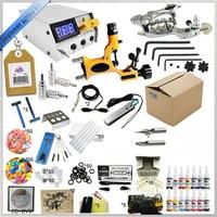 Groothandel Professinal Tattoo Kit 2 Gun Complete Machine Apparatuur + Onderwijs CD + Inkt sets + Naalden voor Beginners Beauty gereedschap