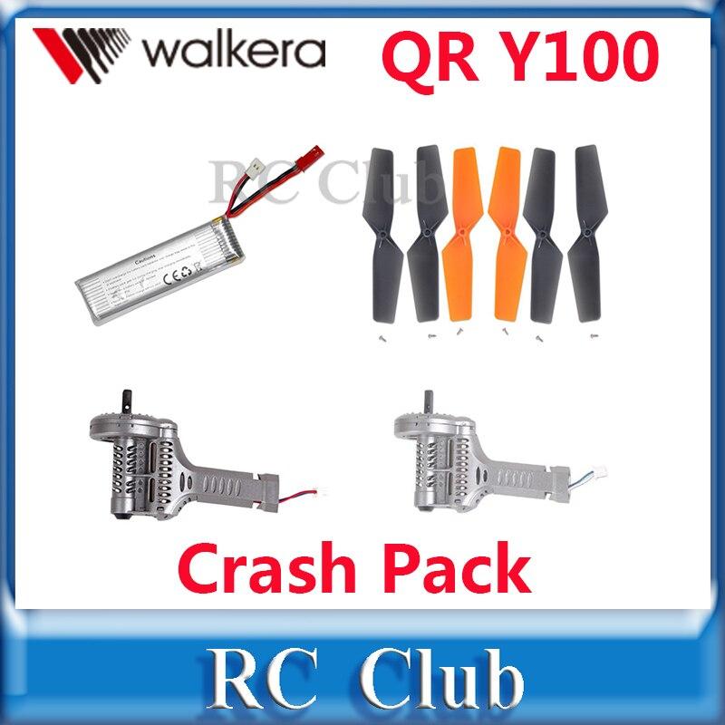 Original Walkera QR Y100 Crash Pack Battery Propellers Motor Clockwise Motor Counter Clockwise
