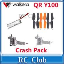 Оригинал Walkera QR Y100 Аварии Pack (Аккумулятор + Винты + Двигатель По Часовой Стрелке + Двигатель По Часовой Стрелке)