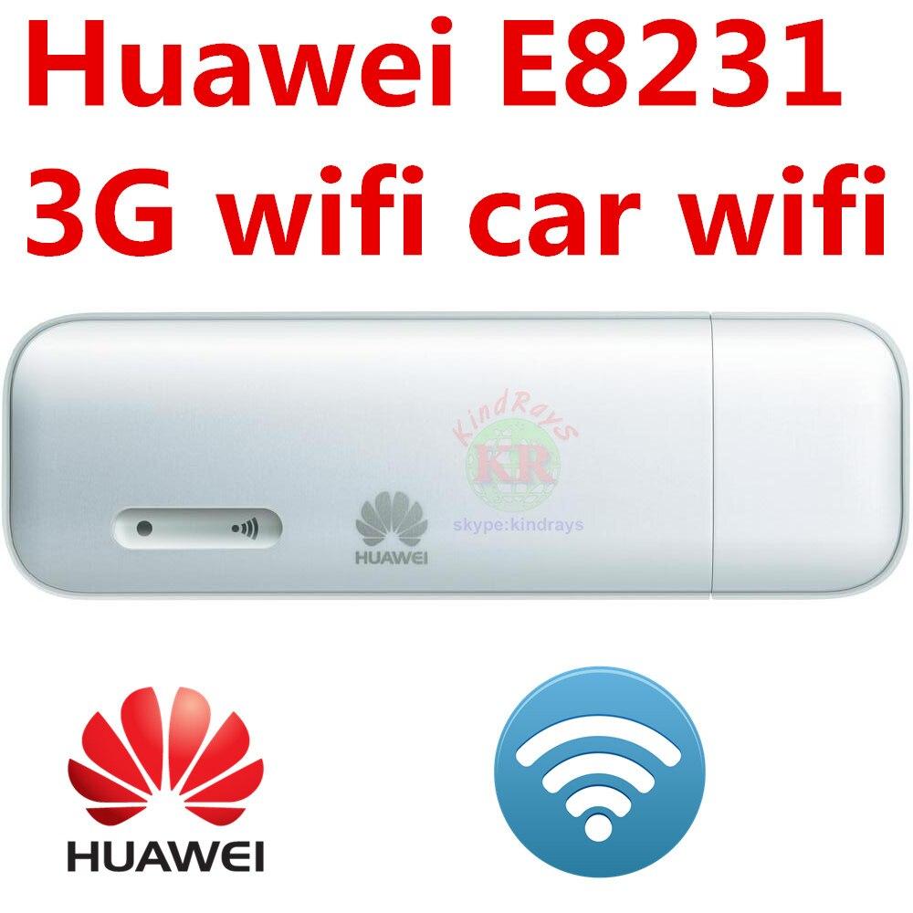 Desbloqueado HUAWEI E8231 3G 21 3G USB wi-fi modem 150mbps Wi-fi dongle carro Wi-fi Apoio 10 Usuário Wi-fi e1750 PK e3131 e8372 e8278