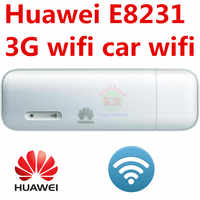 Desbloqueado HUAWEI E8231 3G 21 3G USB wi-fi modem 150mbps Wi-fi dongle carro Wi-fi Apoio 10 Usuário Wi-fi 3g modem wi-fi car