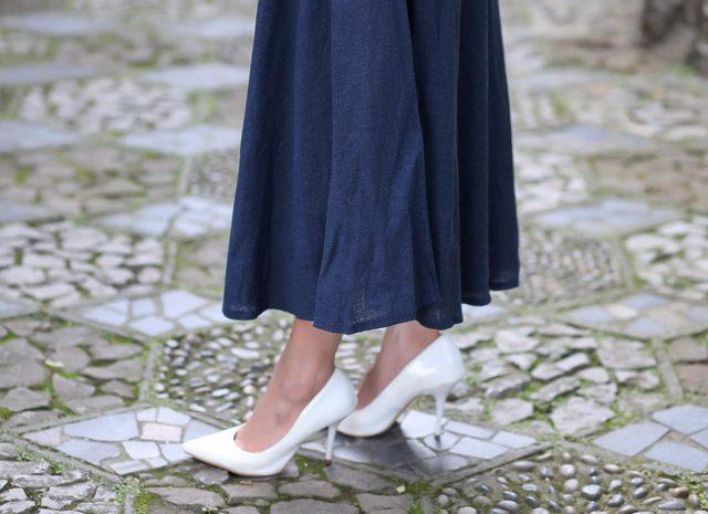 Flared Linen Skirt