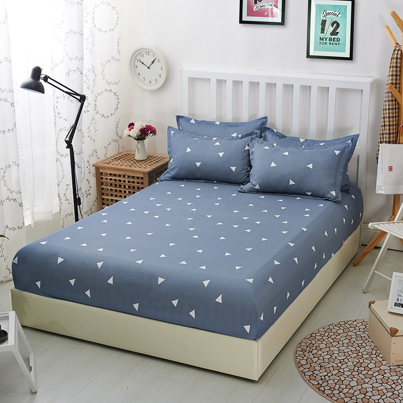 Printed matress cover separated anti-slip bedspread bed cover four seasons double bed mattress protector pad elastic for sheets