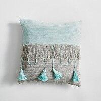 Tufted Pillow Cover Boho Cushion Cover 100% Cotton Wedding Pillow Cover Boho Home Decor, Custom Size and Color 45X45CM/40CMRD