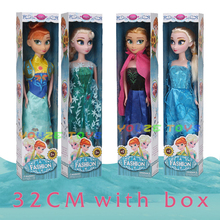 Lifelike High Quality 4PCS Boneca 31cm Elsa Big Doll Girls Toys Fever 2 Princess Anna And Dolls Clothes For Children