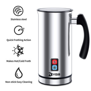 Image 2 - DEVISIB Automatic Milk Frother Stainless Steel Milk Steamer Electric Cappuccino Hot /Cold Coffee CE 1 Year Warranty Including