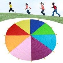 2 м/3 м/3,6 м/6 м диаметр открытый Радужный зонтик Парашютная игрушка прыгающий мешок шариковая игра командная игра игрушка для детей подарок Горячая Распродажа