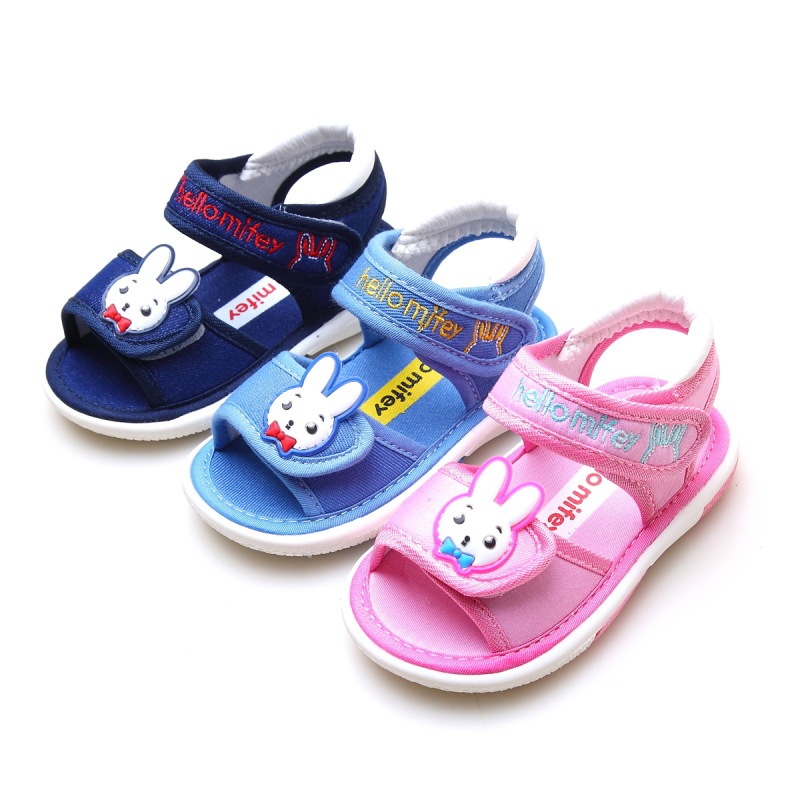 Free Shipping 1 pair KIDS summer Baby Sandals Girl Sound Children Shoes Super quality Cheap Baby