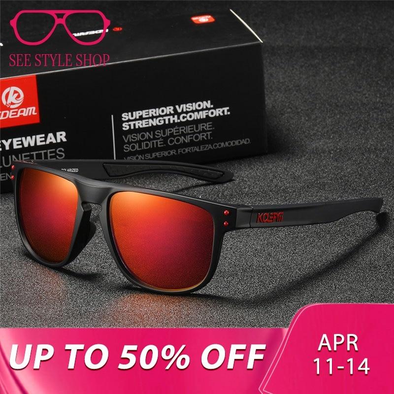 2376470c43f KDEAM New 2019 TR90 Frame Polarized Sunglasses Men Sport Eyewear Women  oculos de sol UV400 zonnebril