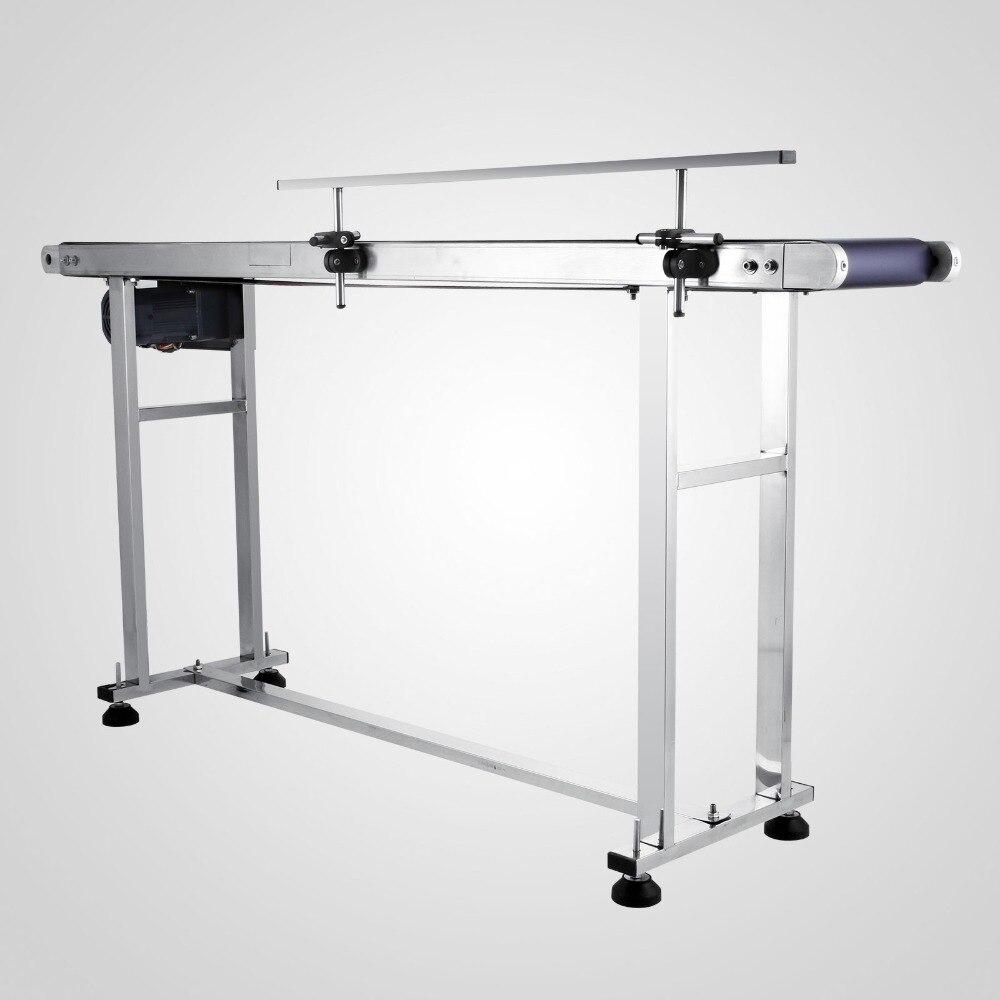 PVC Belt Electric Conveyor Machine 220V/60HZ  Stainless Steel Adjustable Automatic Speed