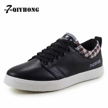 QIYHONG Brand 2016 Fashion Men Casual Flat Shoes  For Adults Large Size  39-44   Three Colors   Classic Genuine Boots