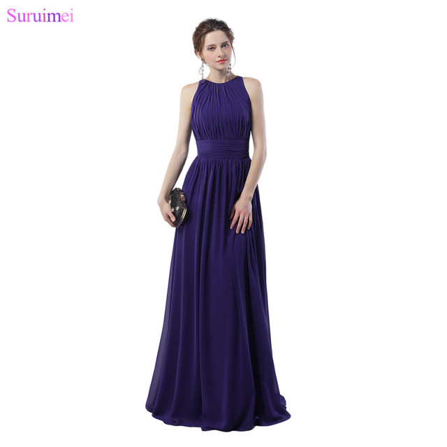 Purple Evening Dresses Off The Shoulder Elegant Zippered Back ...
