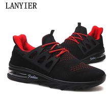2018 Spring Autumn Men'S Fashion Casual Shoes Trend Male Air Mesh Breathable Men For Adult Comfortable Cushioning Flat Sneakers(China)