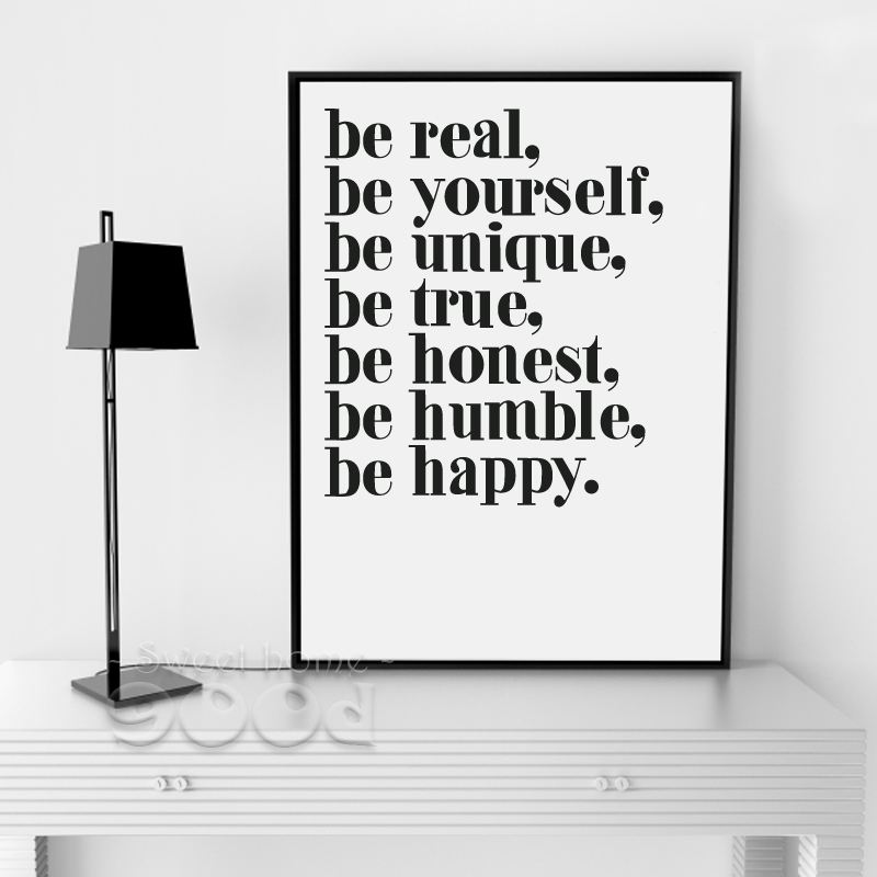 Inspiration Quote Canvas Painting Poster Wall Pictures
