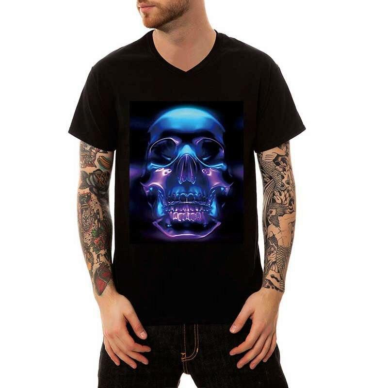 New fashion tshirts Mens Skull t shirt brand homme 3D printed t-shirts Print Casual short sleeve T-Shirt tee tops slim fit