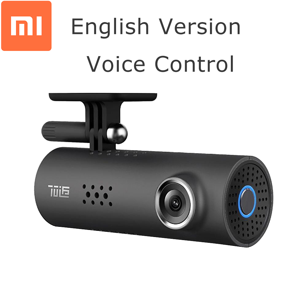 English Version Xiaomi 70 Minutes Smart Car DVR 1080P voice control night Version WiFi 130 Degree Dash Cam G-Sensor Drive Record