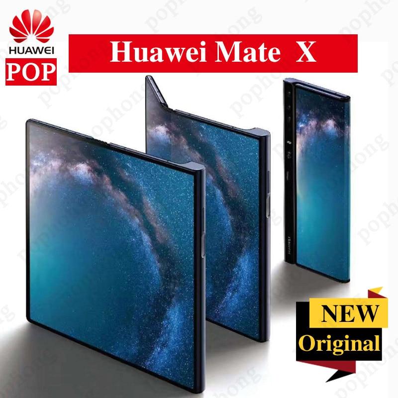 Original Huawei Mate X Folded Screen 5G Mobile Phone Kirin 980 Balong 5000 Android 9.0 8GB RAM 512GB ROM NFC 40.0MP Fingerprint