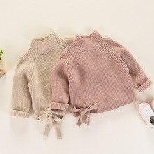Girls sweater 2018 new autumn and winter children's clothing fashion wild thick half high-knit sweater children's shirt