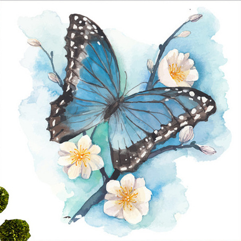 Aliexpress.com : Buy 5D Blue Butterfly Flower Diamond ...