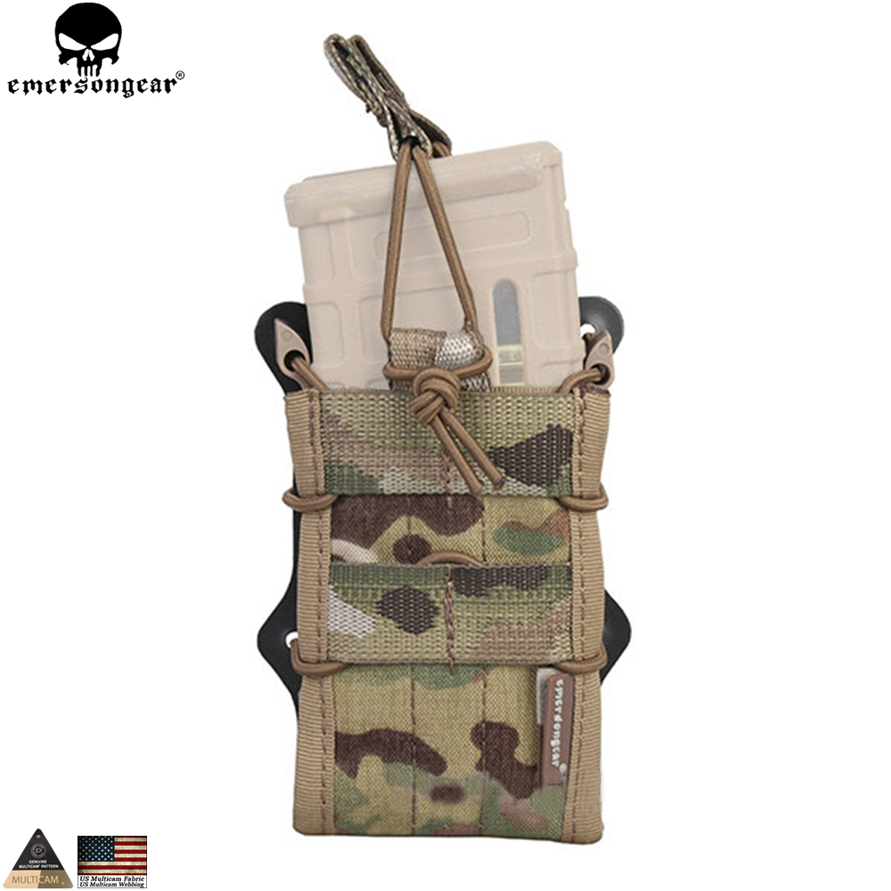 EMERSONGEAR 5.56 Double Modular Rifle Mag Pouch for M4 M16 Mag Molle Pouch Airsoft Hunting MOLLE Magazine Pouch Multicam EM6035