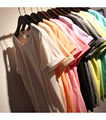 2016 Mujeres Del Verano Suelta de Algodón Sencilla Todo Fósforo Del O-cuello de La Camiseta de Color Crema de Hielo Roll Up Camiseta Básica de 9 Colores