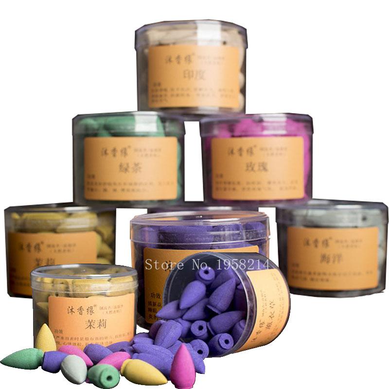 Incenso Cone Incenso Misturado Flores Perfumadas Incenso Aromático Natural Chinês Caixas de Presente Colorido Sala de Meditação de Atualização