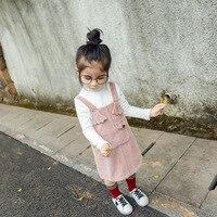 Cute Baby Girl Corduroy Suspender Dress Princess Spring Autumn Children Clothing Kids Party Dress Baby Girl
