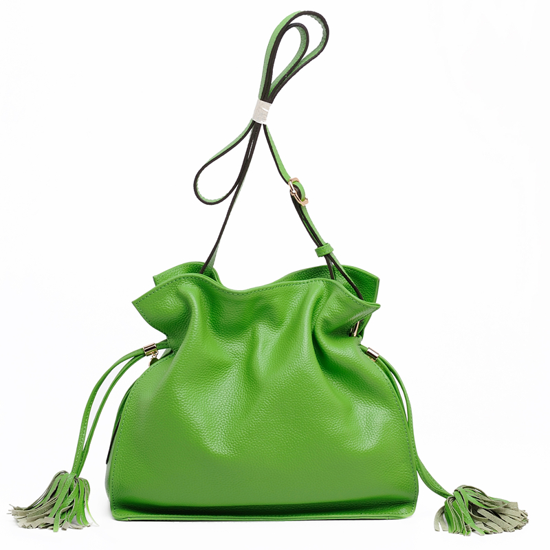 Candy Color Women Shoulder Bag Cross Body font b Handbag b font Bucket Satchel Purse Tassel
