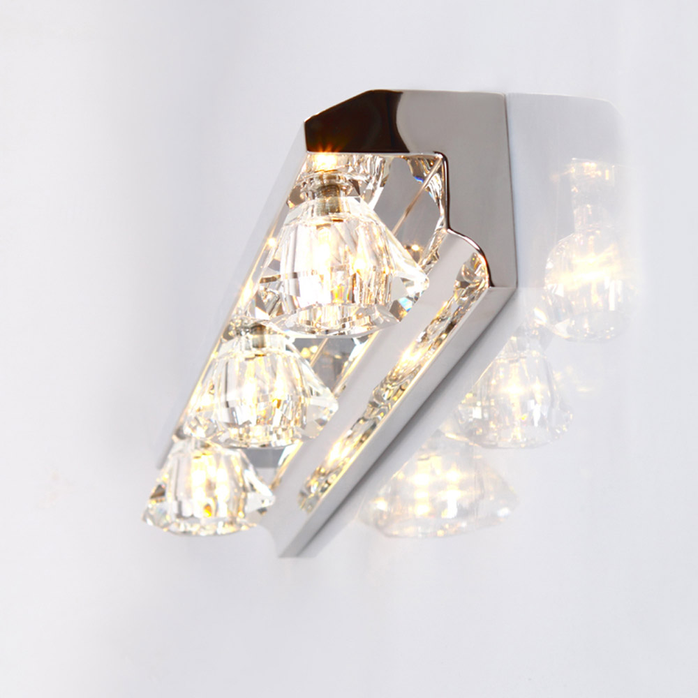 Modern Crystal LED Bathroom Wall Lamp Mirror Front Wall Sconces Luxury Crystal Washroom Wall Lighting Fixtures luxury modern white acrylic 12w led bathroom wall lamp mirror front fashion wall light showroom washroom wall lamp