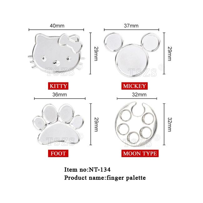 ⓪1 unids/lote anillo de dedo del Metal del arte del clavo plato ...