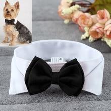 Polyester + Cotton Black & White Dog Knot / Bow Tie
