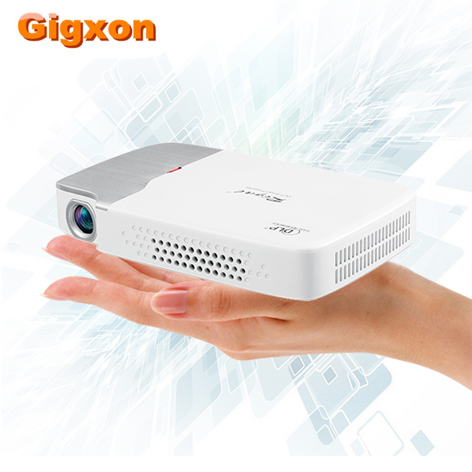 Gigxon DLP 2D/3D Android 150 Ansi lumens DLP Portable Projector wireless home theater system 8GB Airplay wifi Bluetooth 4000mah(China)