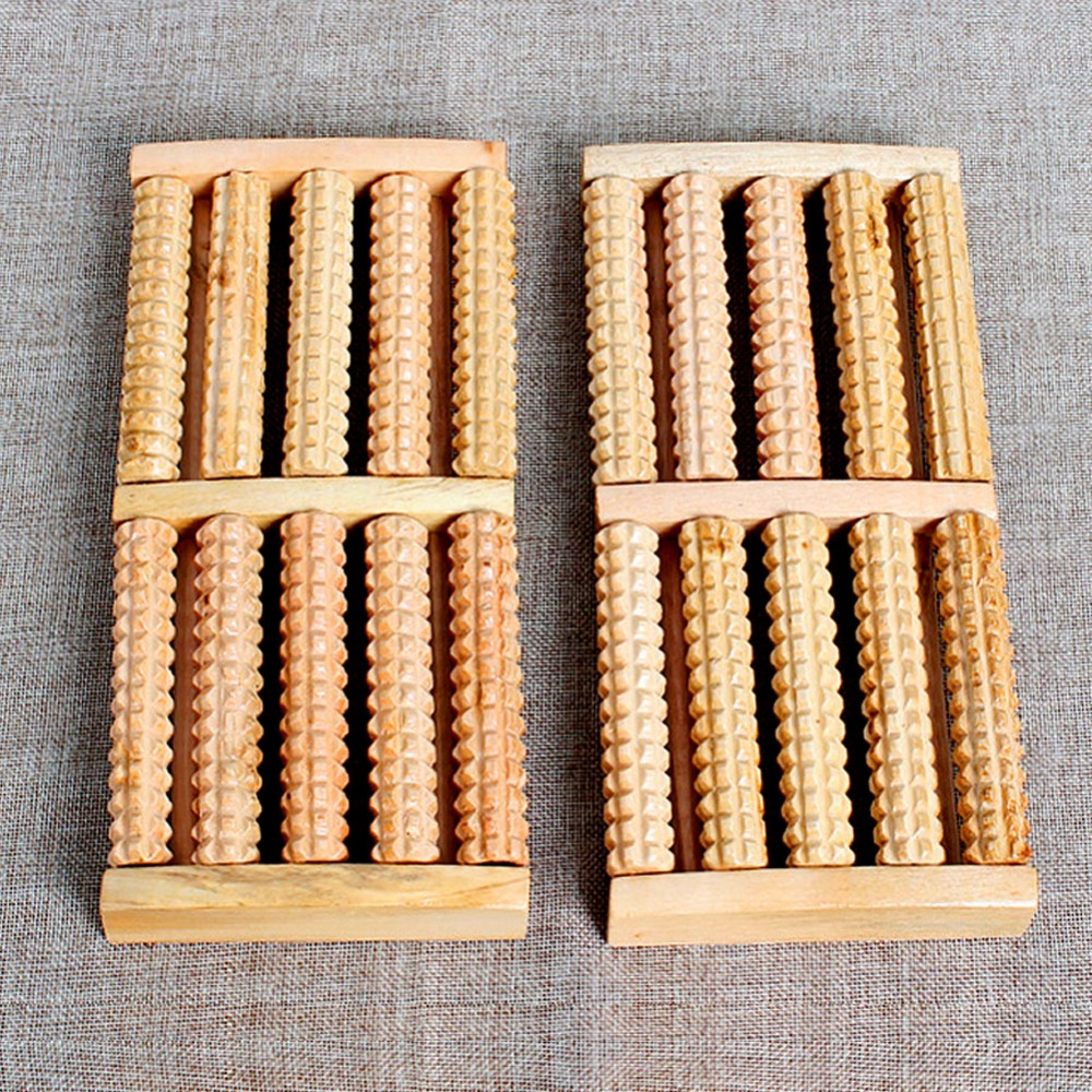 5 Raw Wooden Wood Roller Foot Massager Stress Relief Health Therapy Relax Massage foot massager traditional wooden therapy relax massage tool wood roller foot massager stress relief health care therapy