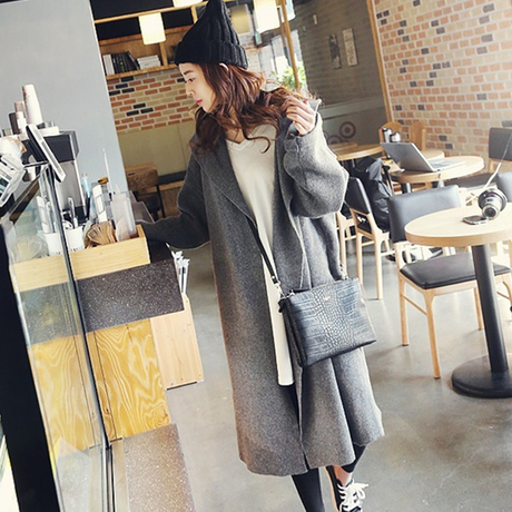 2015 Fashion autumn winter New oversized sweater thick super long ...
