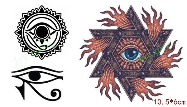 Waterproof Temporary Tattoo Sticker On Body Apollo Sun Totem Gods Eye Tatto Stickers Flash Tatoo Fake Tattoos For Men In From